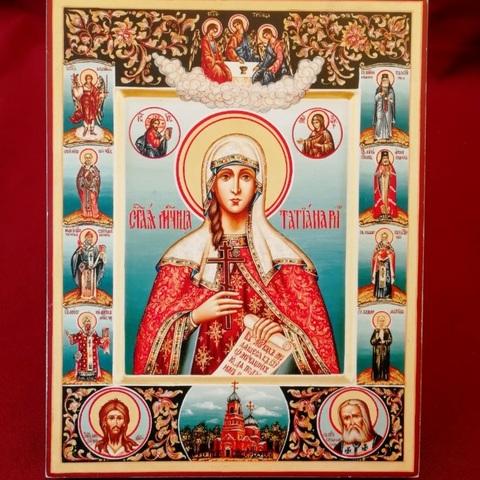 Икона святая Татьяна со святыми на дереве на левкасе  мастерская Иконный Дом