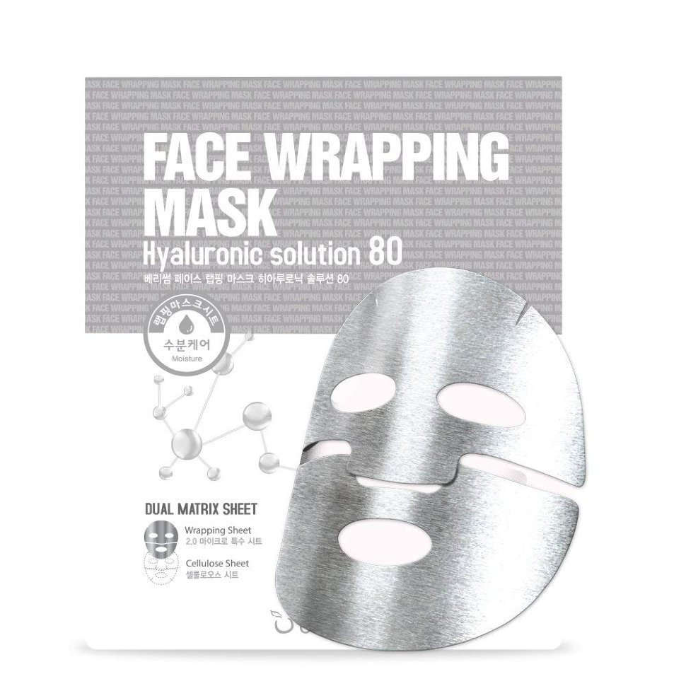 Маски для лица Маска тканевая для лица с гиалуроновой кислотой Berrisom Face Wrapping Mask Hyaruronic Solution 80 8809211652549.jpg