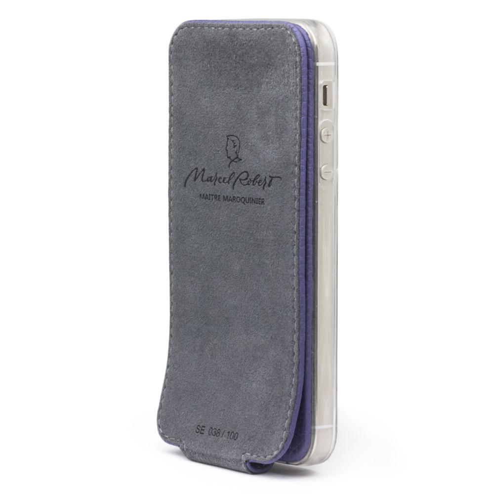 Чехол для iPhone 5S/SE из натуральной кожи теленка, цвета сирени