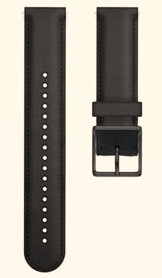 Ремешок для Polar Ignite Leather Black (M/L)