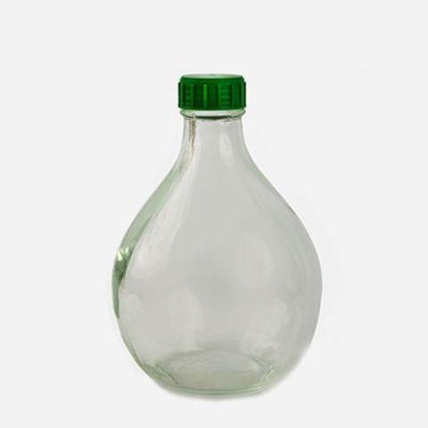Бутыль прозрачная Дамижана с крышкой 3л