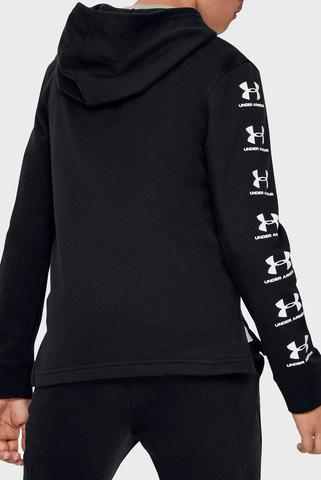 Детская черная спортивная кофта Rival Full Zip Hoody-BLK Under Armour