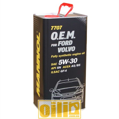 7707 Mannol O.E.M. for FORD VOLVO 5W-30 5L metal