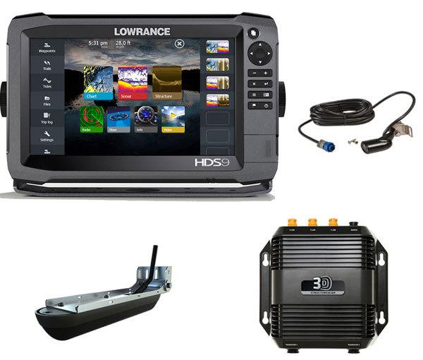 Комплект Lowrance HDS-9 Gen3 + StructureScan 3D + датчик HST-WSBL