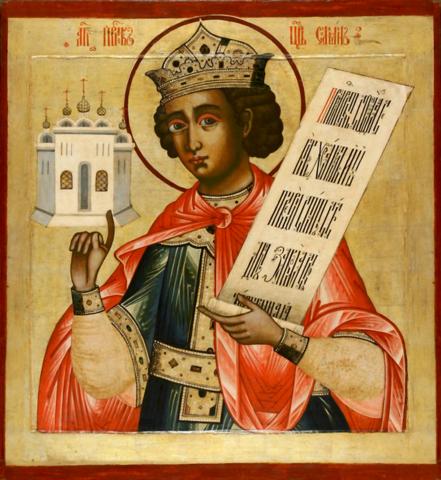 Икона святой пророк царь Соломон на дереве на левкасе мастерская Иконный Дом