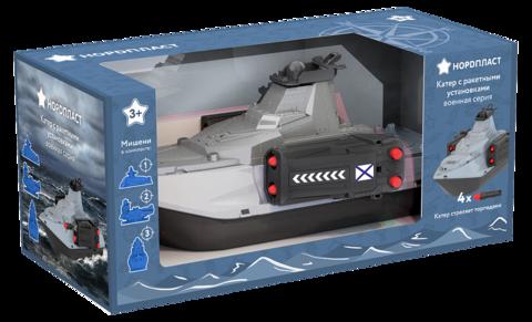 Катер с ракетными установками (в коробке), Нордпласт, 1500