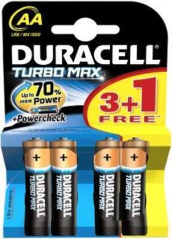 Батарейки Duracell Turbo LR6, AA (4/80) BL