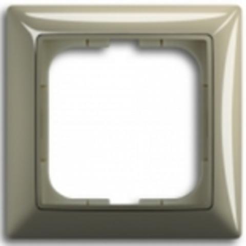 Рамка на 1 пост. Цвет бежевый. ABB(АББ). Basic 55(Бейсик 55). 1725-0-1526