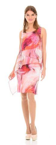 Фото облегающее платье на бретелях с ассиметричными оборками - Платье З110-148 (1)