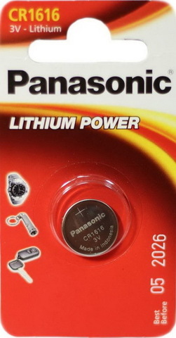 Батарейки литиевые Panasonic CR 1616 BL1