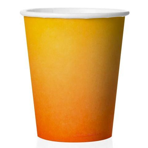 Стаканы (250 мл) Оранжевый, Градиент, 6 шт.