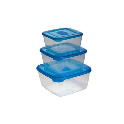 Набор контейнеров для СВЧ Polar пластиковые квадратные