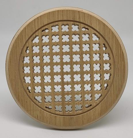 Решетка декоративная деревянная круглая на магнитах Пересвет К-37 d100мм