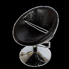 Парикмахерское кресло Эмма гидравлика хром, круг хром