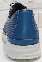 Женские кожаные кроссовки туфли спортивные летние sport casual стиль Wollen P029-2096-24 Blue White.