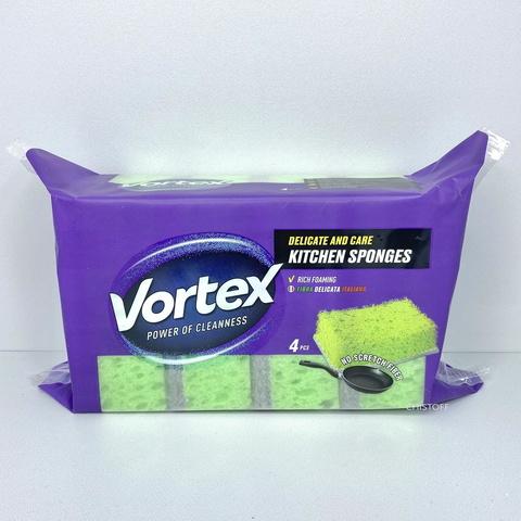 Губки кухонные Vortex для деликатных поверхностей (4 шт.)