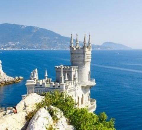 Алмазная Мозаика 5D 40x50 Крепость на берегу моря