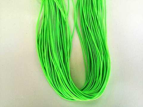 Шляпная резинка, толщина 1мм, цвет зеленый-неон. 1м.