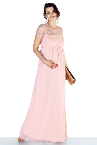 Платье для беременных 10652 пудра
