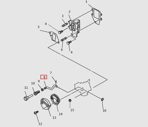 Тяга подсоса карбюратора для лодочного мотора T9.8 Sea-PRO (4-8)