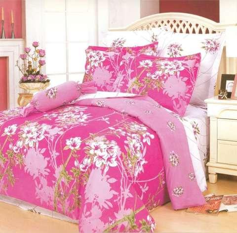 Сатиновое постельное бельё  2 спальное  В-46