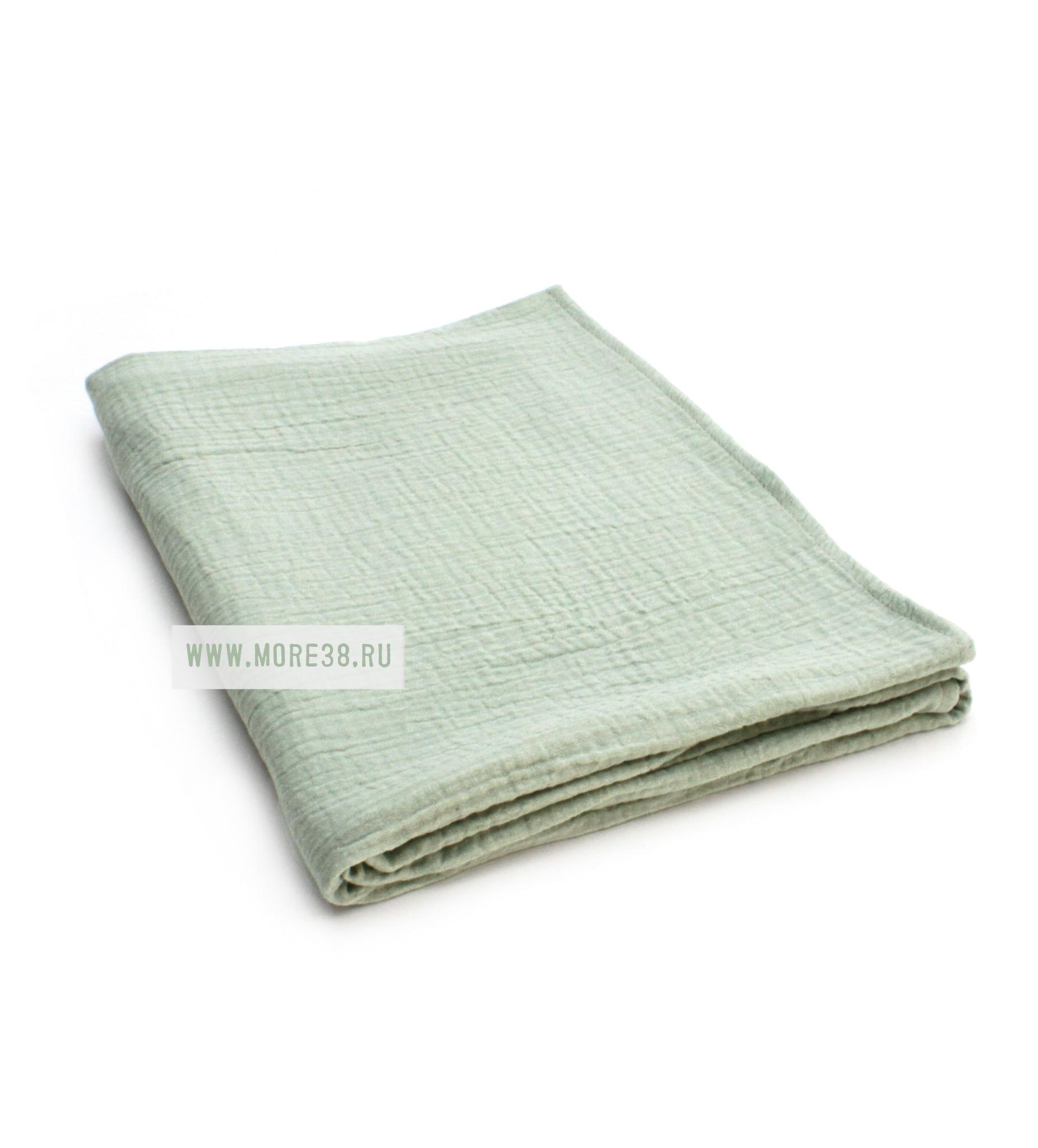Муслиновая пеленка-фисташка (100х130)