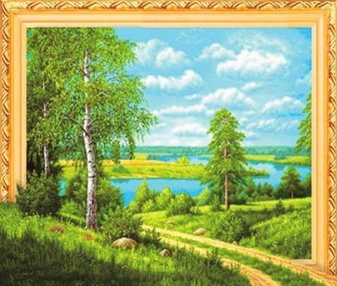 Алмазная Мозаика 5D 40x50 Дорога к реке (арт. LT0511)