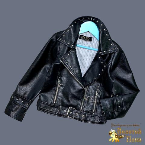 Куртка эко-кожа девочке (5-13) 210524-К74028