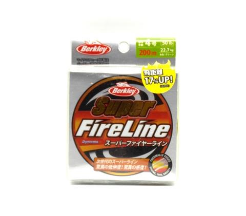 Плетеная леска Berkley Super Fireline Ярко-зеленая 200 м. 4 РЕ 22,7 кг. Chartreuse (Японский рынок) (1324483)