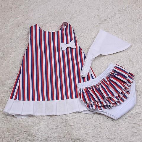 Летнее платье с трусиками Пироженко (полоска)