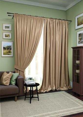 Комплект штор Авери с тюлем коричневый