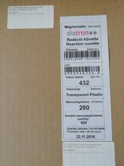 ML. (CURE2400) Кюветы для реакций, 6 мм (уп.1400шт) для METROLAB 2300 (МЕТРОЛАБ 2300) Diatron MI Zrt.,Венгрия
