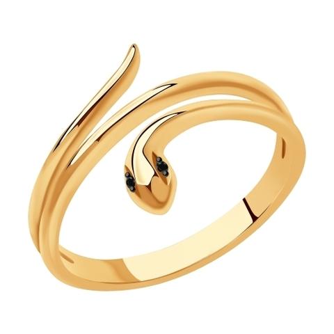 7010068 - Кольцо Змея из золота с бриллиантами
