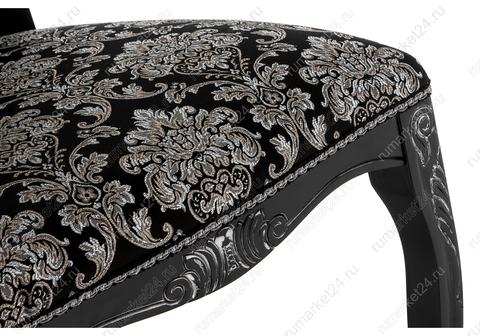Стул деревянный кухонный, обеденный, для гостиной Клето патина серебро / черный 50*50*104 Черный