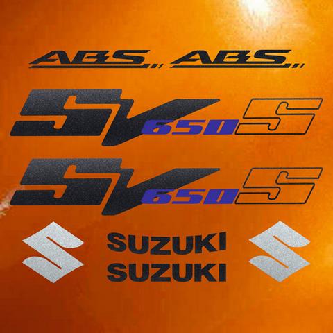 Набор виниловых наклеек на мотоцикл SUZUKI SV 650S 2009