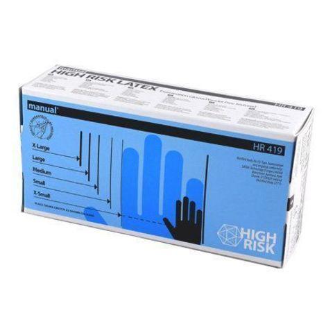 Перчатки латекс. HIGH RISK MANUAL L 25 пар/упак