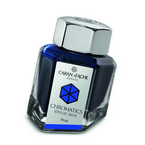 Carandache Чернила (флакон), синие (Idyllic Blue), 50 мл