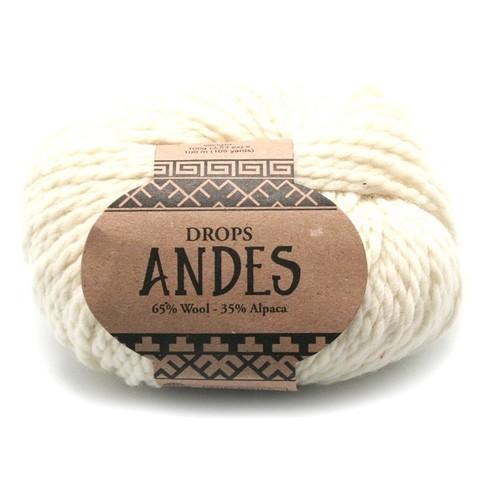 Пряжа Drops Andes 0100 молочный
