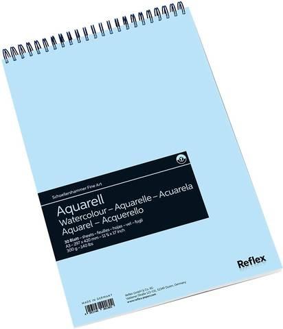 Альбом для акварели 300г/м2 29.7*42см 30л спираль по короткой стороне