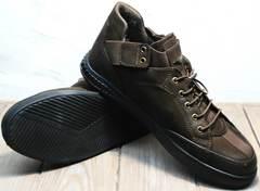 Мужские осенние туфли на толстой подошве Luciano Bellini 71748 Brown