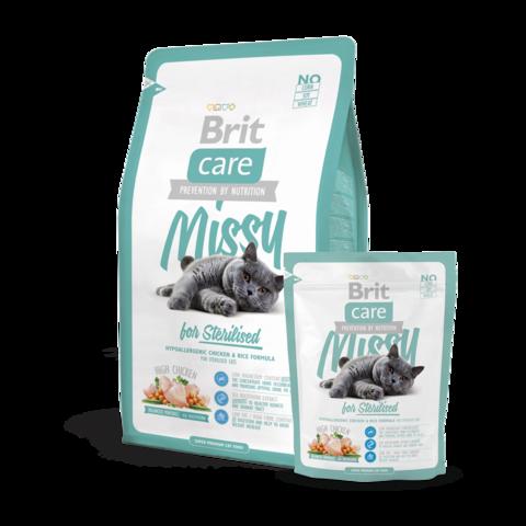 Brit Care Missy for Sterilised Сухой корм для стерилизованных кошек профилактика МКБ