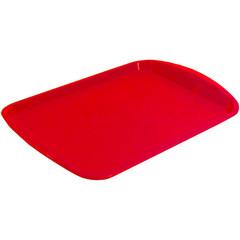 Поднос прямоугольный пластиковый Polar 470х330 мм красный