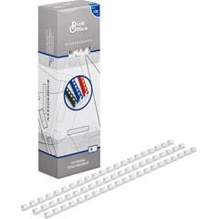 Пружины для переплета пластиковые ProfiOffice 8 мм белые (100 штук в упаковке)