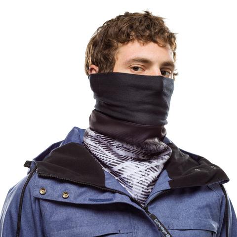 Шарф непродуваемый с маской на лицо Buff Neckwarmer Windproof Camaleonic Black фото 2