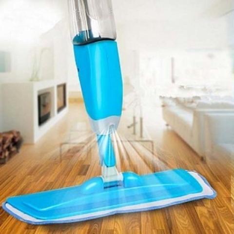 Швабра с распылителем Healthy Spray mop голубая