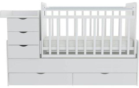 Кроватка детская ФЕЯ 1150, белый
