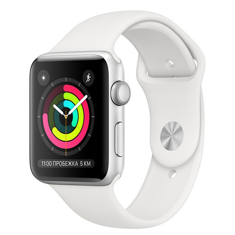 Watch S3 Cellular 38mm Silver Al/White Sport Band
