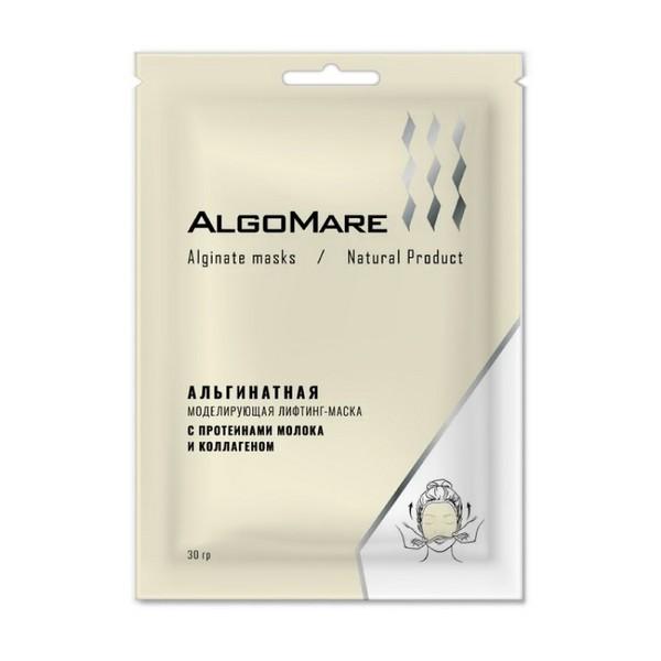 Альгинатные маски AlgoMare, Альгинатная лифтинг-маска с протеинами молока и коллагеном, 30 гр Молоко.JPG