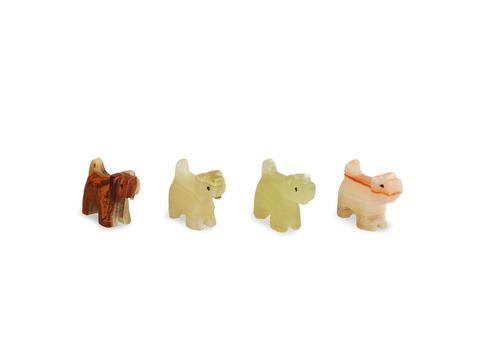 Собака из оникса малая (5,5х4х2 см). Интернет магазин чая