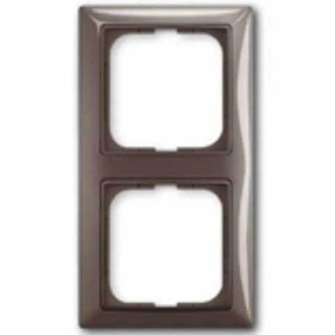 Рамка на 2 поста. Цвет серый. ABB(АББ). Basic 55(Бейсик 55). 1725-0-1532